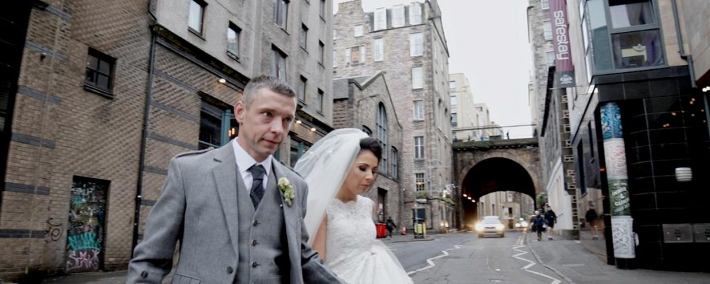 the caves Edinburgh wedding videography